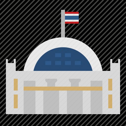 Bangkok, building, hua lamphong railway station, landmark, thai, thailand icon - Download on Iconfinder