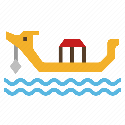Bangkok, boat, suphannahong boat, thai, thailand, travel icon - Download on Iconfinder
