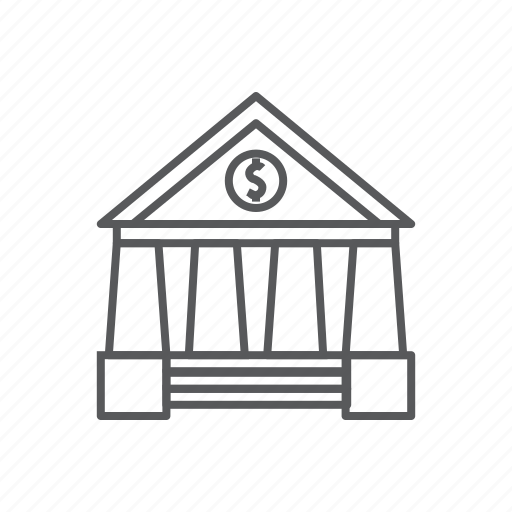 bank, bank office, office icon