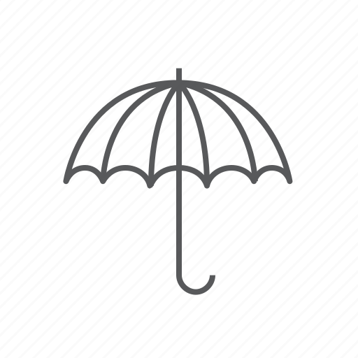 bank, insurance, investment, protection, umbrella icon
