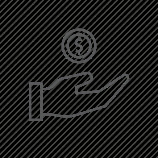 bank, finance, funding, hand, money icon