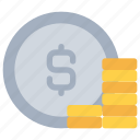 bank, banking, business, coin, finance, money icon