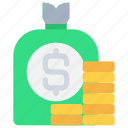 bag, bank, finance, investment, money, saving icon