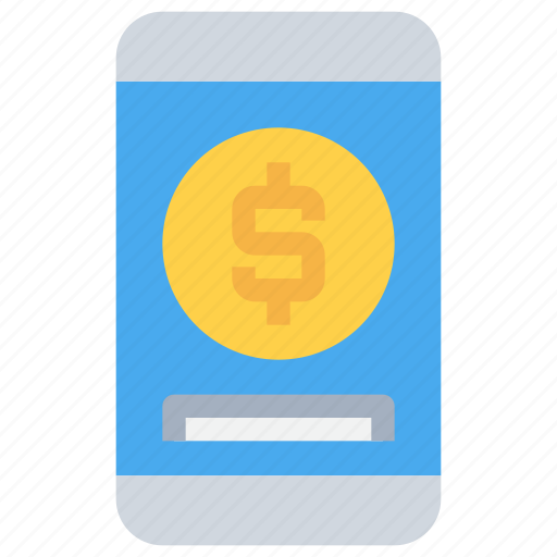 banking, mobile, money, payment icon