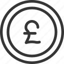 banking, british, coin, money, pound icon