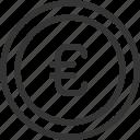 banking, coin, euro, money icon