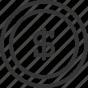 banking, coin, dollar, money icon