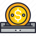 bank, banking, business, coin, finance, financial, money icon
