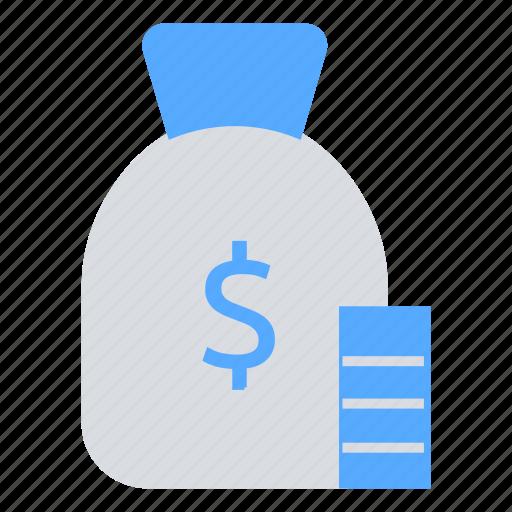 bank, coin, coin bag, dollar, money, money bag icon