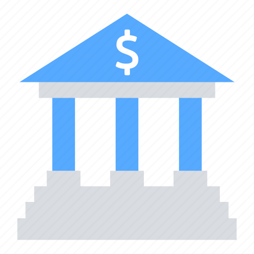 Internet banking, bank building, bank, business, transfer icon