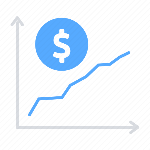 finance, investment, line graph, money, sales, statistics icon