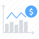 bar chart, finance, investment, money, sales, statistics icon
