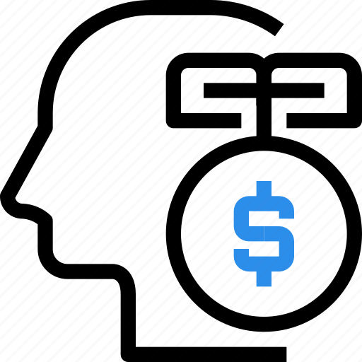finance, head, idea, investment, mind, money, planning icon