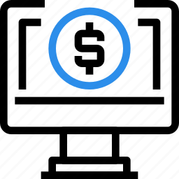 banking, business, commerce, computer, online, payment, seo icon