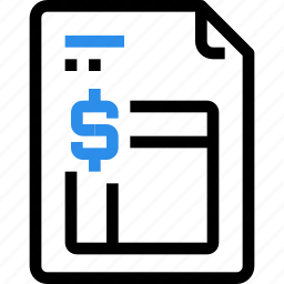 bank, banking, business, document, finance, financial, invoice icon