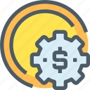 bank, banking, business, finance, making, money icon