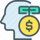 bank, banking, finance, idea, investment, mind, money icon