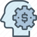 bank, business, finance, human, making, mind, money icon