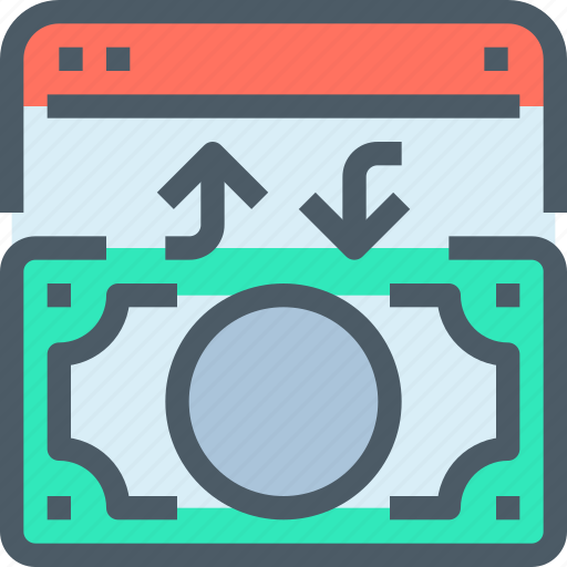 bank, banking, exchange, finance, money, payment icon
