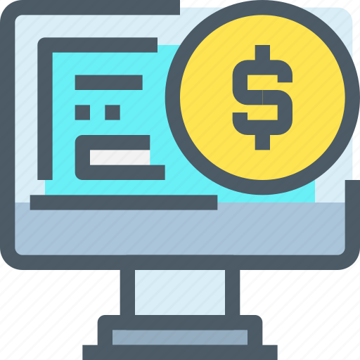 bank, banking, business, computer, finance, financial, payment icon