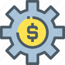bank, banking, finance, gear, making, money, process icon