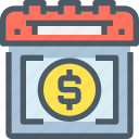 bank, banking, business, calendar, event, finance, planning icon
