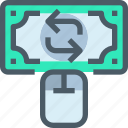 arrow, bank, banking, exchange, finance, online, payment icon