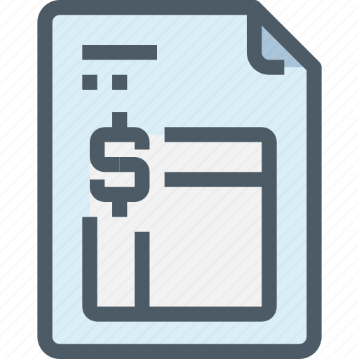 bank, banking, document, file, finance, financial, invoice icon