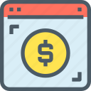 bank, banking, browser, finance, online, payment icon