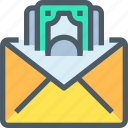 bank, banking, business, email, finance, letter, mail icon