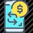 bank, banking, business, exchange, finance, mobile, smartphone icon