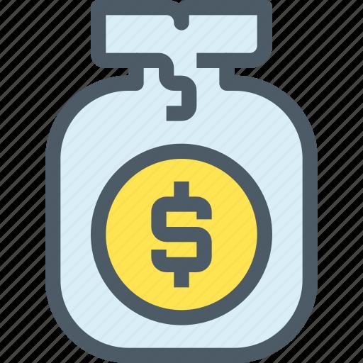 bag, bank, finance, investment, money, saving icon