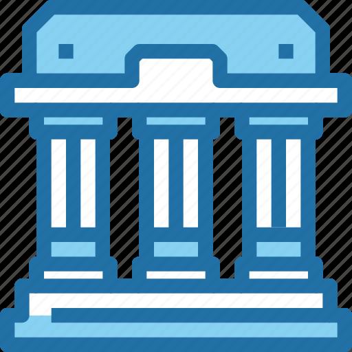 bank, banking, build, building icon