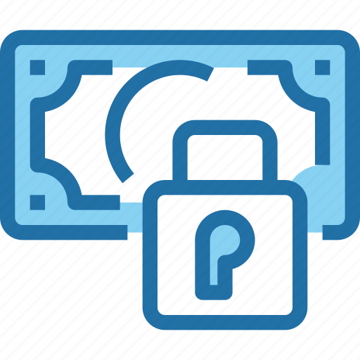 bank, banking, financial, money, padlock, security icon