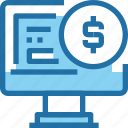 bank, banking, computer, financial, payment icon