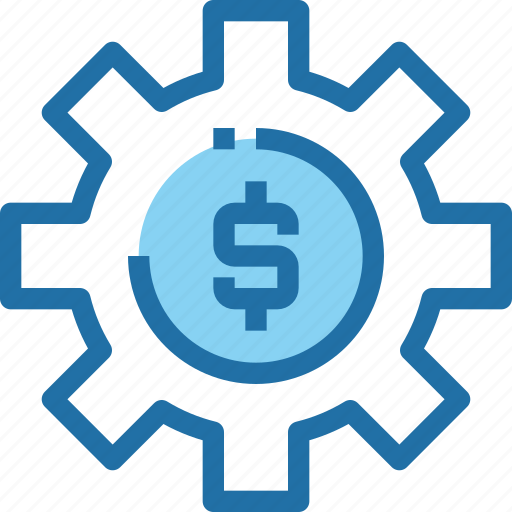 bank, banking, gear, making, money, process icon