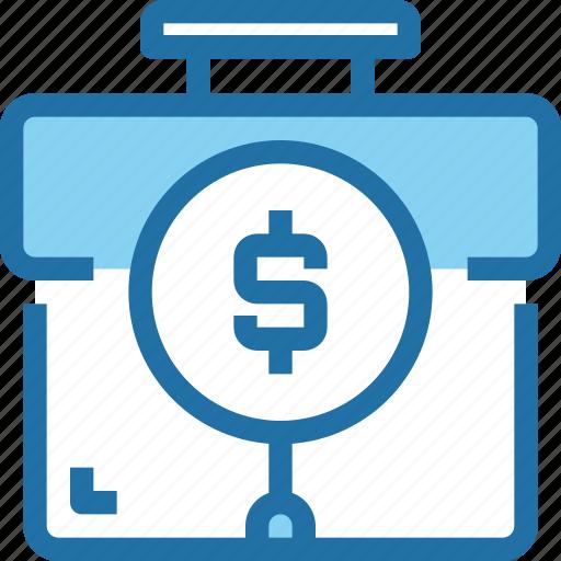 bank, banking, business, finance, financial, plan, search icon