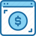 bank, banking, browser, online, payment, shopping icon