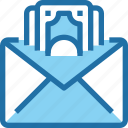 bank, banking, email, finance, letter, mail, payment icon