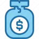 bag, bank, banking, finance, money, saving icon
