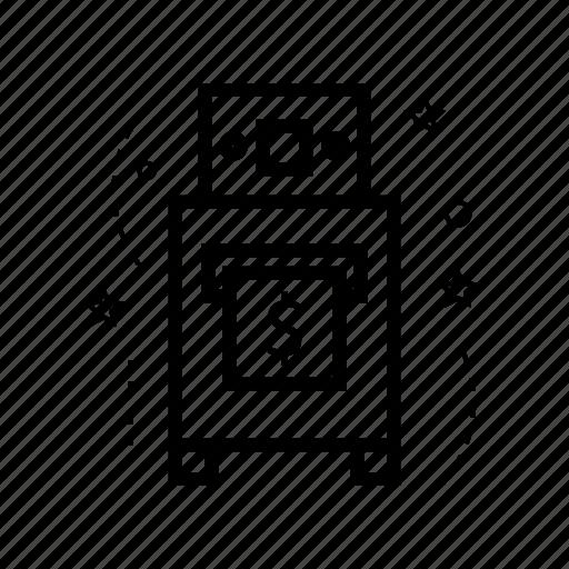 atm, bank, building, engine, finance, money icon