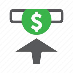 banking, deposit, finance, money icon