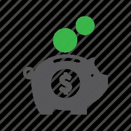budget, money, piggy bank, rich, saving, wealth icon