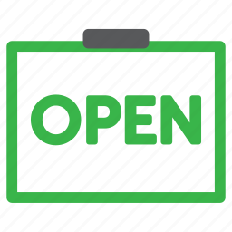 bank hours, open sign, schedule, store hours icon