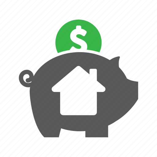buy a house, financing, home buyer, money, mortgage, payment, saving icon
