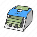 bank, cash counter, money, money counter icon