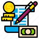 budget, check, finance, list, management, money, plan icon