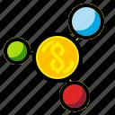 business, financial, flow, management, money icon
