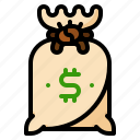 bag, bank, cash, currency, dollar, investment, money