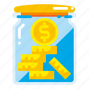 bank, banking, cash, coin, currency, gold, money icon